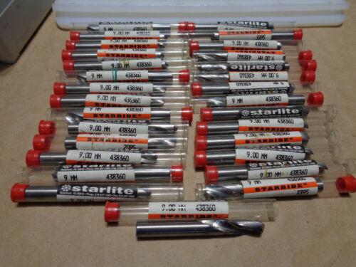 "Starlite USA Solid Carbide #438360 9 mm .354"" screw machine stub drill spotting"