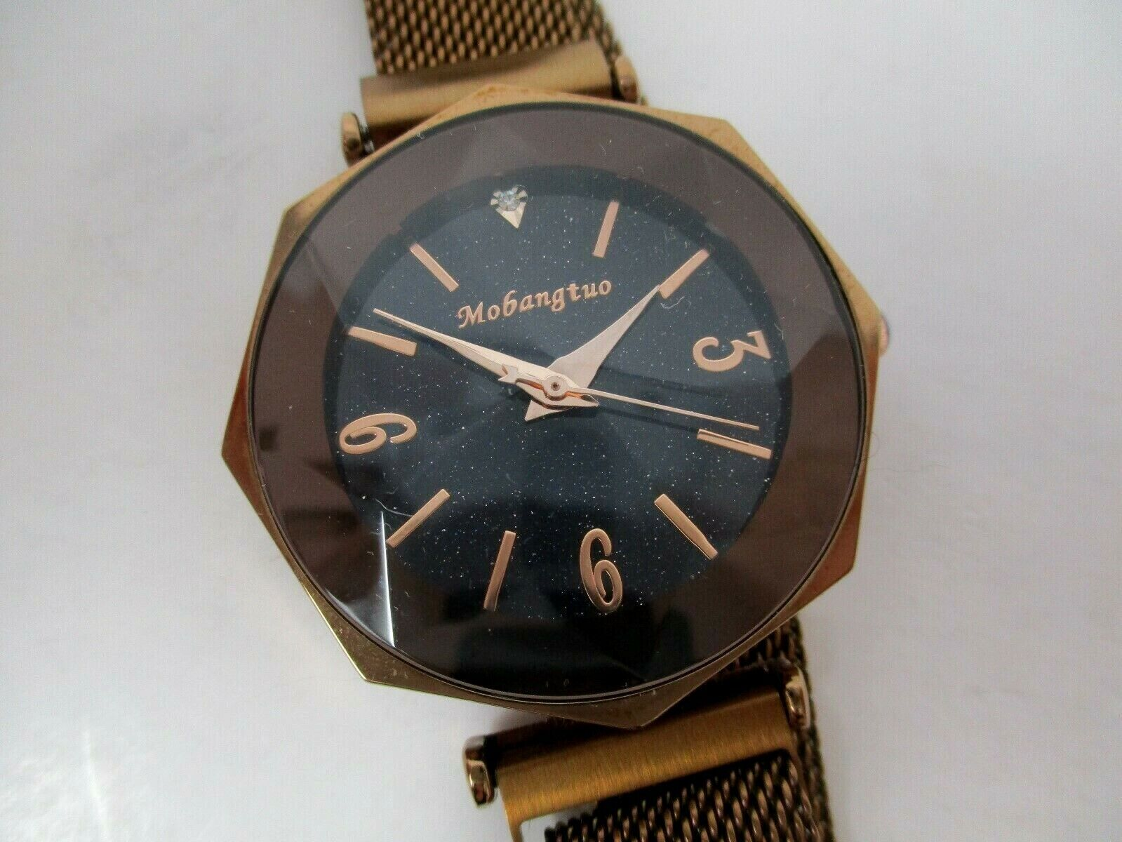 Mobangtuo Women's Starry Sky Bronze Watch With Magnetic Band