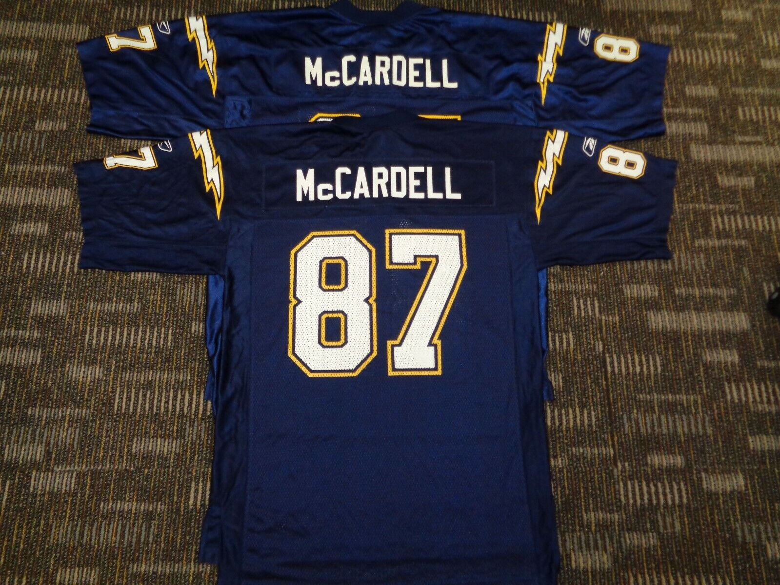 LOT-KEENAN McCARDELL SAN DIEGO LOS ANGELES CHARGERS REEBOK NFL GAME JERSEYS LG M - $39.99