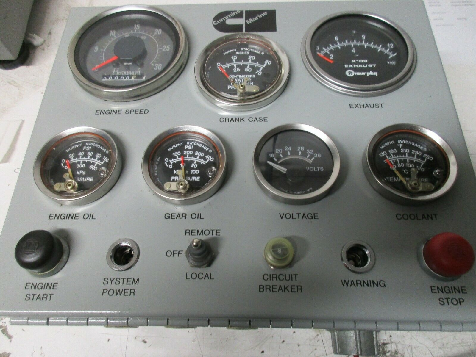 NEW CUMMINS DIESEL MARINE INSTRUMENT PANEL 3866889 4079026
