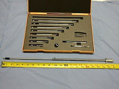 Mitutoyo Id Micrometer Set No 141-133 - 2-21.5 Inches -custom Rod Used Free Ship