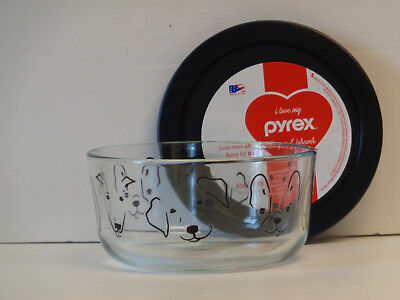 Pyrex My Best Friend 4-Cup Storage Bowl & Cover New Adorable Puppy