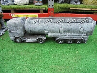 Oil Tanker lorry Truck and trailer planter garden ornament