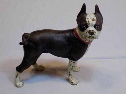 Cast Iron French Bulldog Terrier Doorstop Boston Vintage Old Dog Black Hubley??