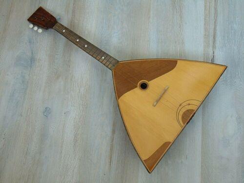 Balalaika Prima 3 string original vintage Soviet Russian folk Instrument USSR