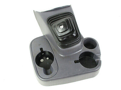 DODGE RAM 1500 2500 FLOOR CONSOLE MANUAL SHIFT BEZEL BOOT CUP HOLDER GRAY 98-01*