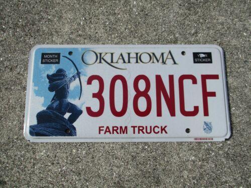 Oklahoma  Farm Truck license plate #  308 NCF