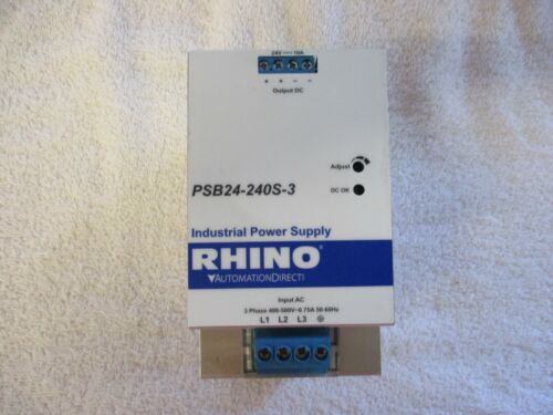Automation Direct Rhino Industrial Power Supply    PSB24-240S-3
