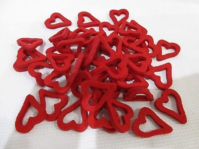 Lot of (50) Valentines Day Hearts Felt Craft Scatter Table Bowl filler Decor