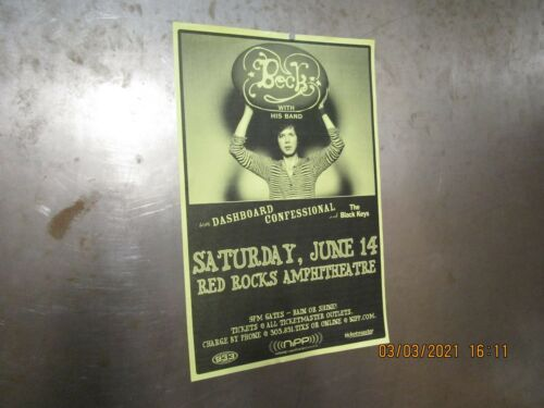 BECK Red Rocks Denver 2003 SHOW POSTER DASHBOARD CONFESSIONAL BLACK KEYS NIPP