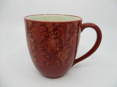 """NORITAKE ELEMENTS - CORAL - RED - MUG  4 x 3 1/2""""  0309D"""