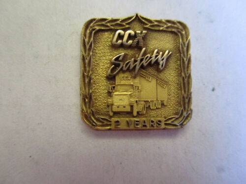 CCX Inc 2yr Trucking Truck Driver Employee Safety Award Pin