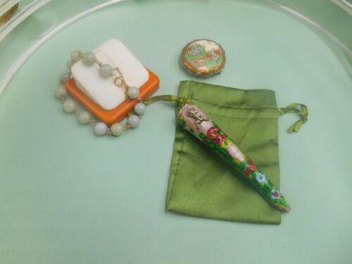 estate lot ORIENTAL 14k gf jade bracelet unique enamel finger guard frog Satsuma