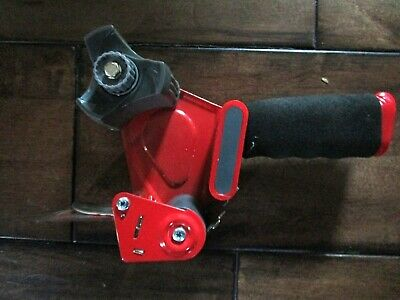 Red Scotch Tape 3m Dispenser Handheld Packing Tape Gun 2 Roll Used