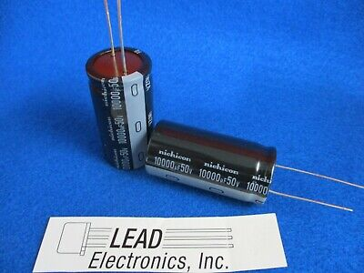 Qty2 Nichicon 10000uf 50v Uvz1h103mrd 10000mfd 50-volt 105-deg Radial Capacitor