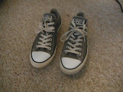 Converse All Star Gray Canvas Athletic Shoes Men's Size 10