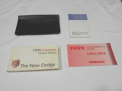 1999 DODGE CARAVAN OWNER MANUAL 4/PC.SET & BLACK DODGE FACTORY CASE.FREE S/H
