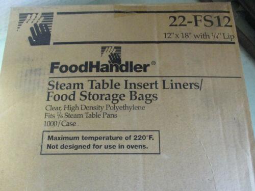 """CASE OF 1000 Foodhandler Steam Table Insert Liners 12"""" X 18"""" P/N 22-FS12 U9"""