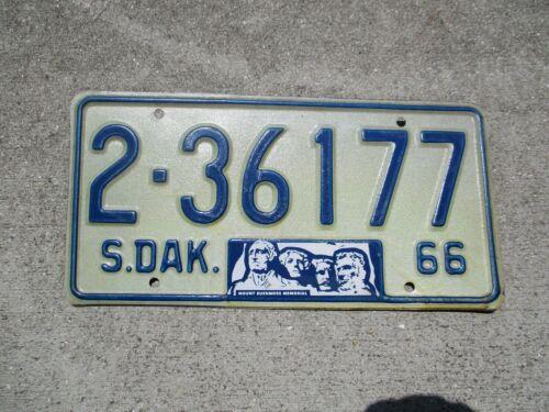 South Dakota 1966 license plate  #     2 - 36177