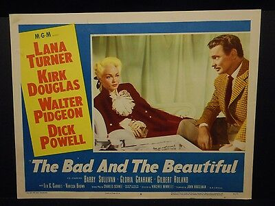 Lana Turner The Bad and the Beautiful 1953 orig Lobby Card # 4 VF Walter Pigeon