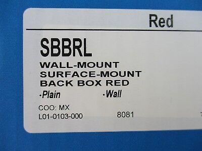 New System Sensor Sbbrl - Red Indoor Surface Mount Box
