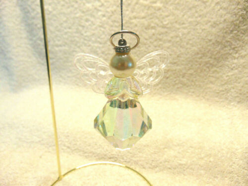 Christmas ANGEL Ornament - Iridescent Sparkle Wings   #F