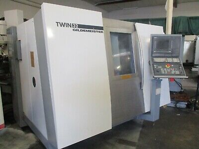 2001 Gildemeister Twin 32 Twin Spindle 2 Turrets 2 Y-axis Spindles Live Tools