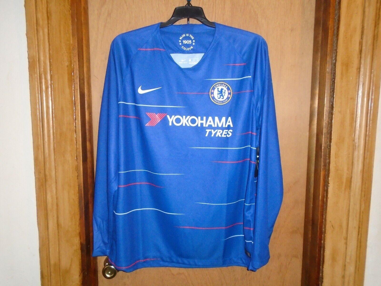 Nike Men's Chelsea Home LS Stadium Jersey (Royal Blue) AA8057 496* XL NWT