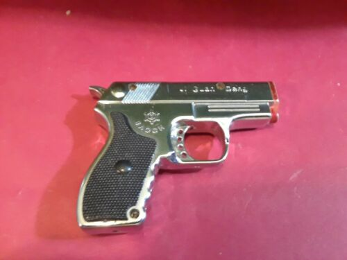 Classic Pistol/ Gun Lighter with Red Pointer Light.  Needs repair.