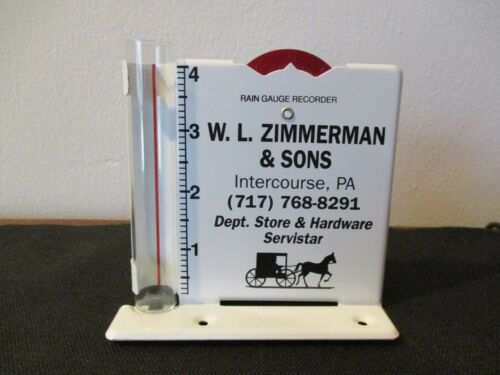 Vintage Advertising Rain Gauge Zimmerman True Value  Intercourse Pennsylvania