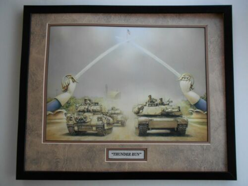 """THUNDER RUN""    MILITARY ART PRINT  No frame"