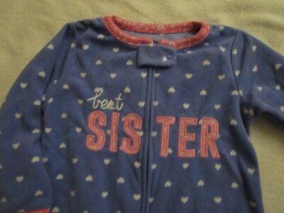 Best Girls Pajamas (CARTERS NEW Girls Best Sister Sleeper Fleece Zip PJ's Pajamas NWT Size 24)