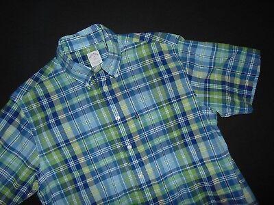 BROOKS BROTHERS Men's Button Front Shirt ~ Medium ~ All Cotton ~ Plaid