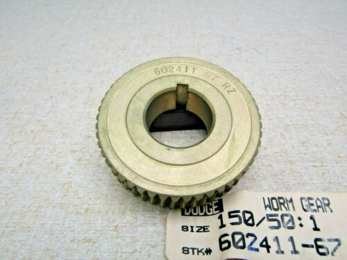 "Dodge 602411-67 150/50:1 Brass Worm Gear  1"" Keyed Bore"