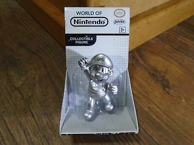2016 Jakks Pacific  World Of Nintendo  2 5  Silver Mario Mini Figure  New