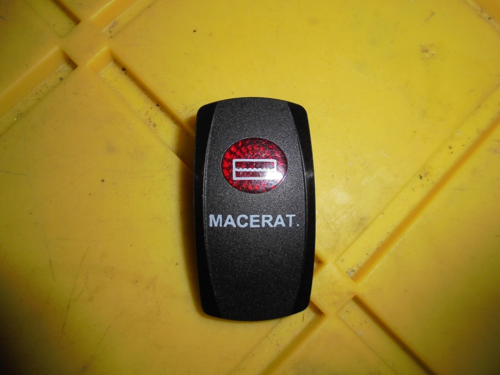 Carling Boat Rocker Switch Cover MACERAT. Black Illuminated