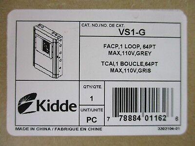 New Kidde Vs1-g - One Loop Fire Alarm Control Panel 110v - Gray Door
