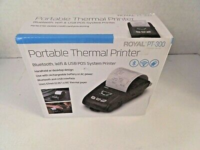 Royal Pt-300 Pt300 Portable Thermal Printer Bluetooth Wifi Usb Pos Printer