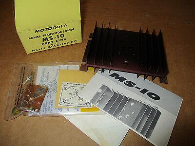 Motorola Power Transistor Diode Ms-10 Heat Sink W Mk-15 Mounting Kit New