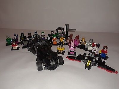 Lego Batman Collection The Bat-mobile, Bat-plane 20 series mini-figures Great Cd