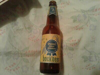 RARE 12oz. IRTP Pabst Blue Ribbon Bock Beer Bottle Milwaukee Wisc.