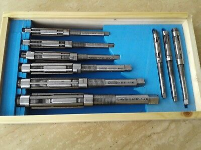 9 Pcsset Adjustable Hand Reamers A-i H4-h12 1532 To 1-316 Hss 515-adj9
