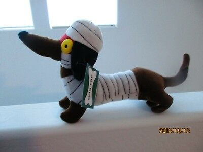 Dachshund Wiener Dog Halloween Mummy Stuffed Animal Squeaker Pet Dog - NWT - Dachshund Halloween