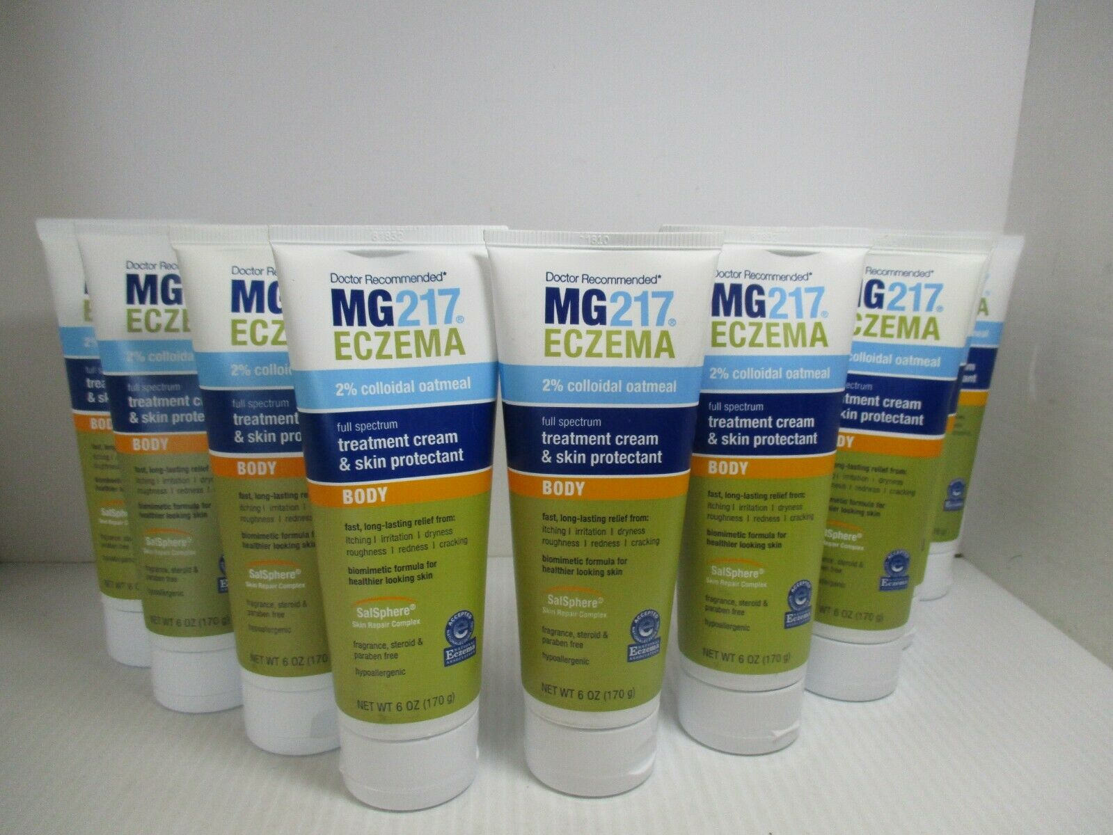 3 MG217  ECZEMA TREATMENT & SKIN PROTECTANT BODY CREAM 6 OZ
