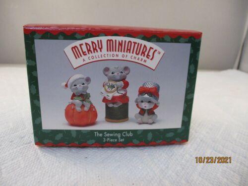 Hallmark Merry Miniatures The Sewing Club 1996 w/box Christmas Mice