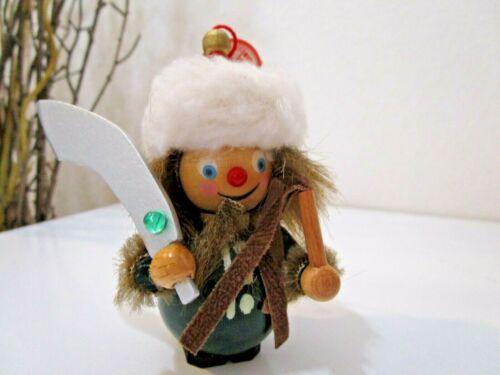 "Steinbach Christmas Wooden ""GENGHIS KHAN"" Ornament  W/TAG ~ EUC (Lot 3)"