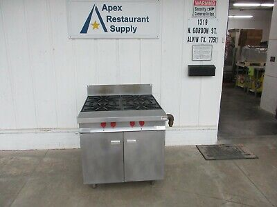 Vulcan Gh45s 4 Burner Natural Gas Stove Range Barely Used. 4268