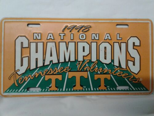 Tennessee Volunteers 1998 National Champions Commemorative Novelty Tag Preowned