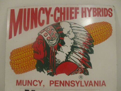 MUNCY CHIEF HYBRIDS FIELD SIGN- OUTSTANDING INDIAN CHIEF / EAR OF CORN GRAPHICS!