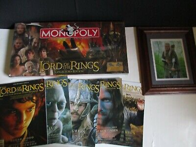 Lord Of The Rings Monopoly Collector's Edition, Legolas Artwork, Fan Club Mags